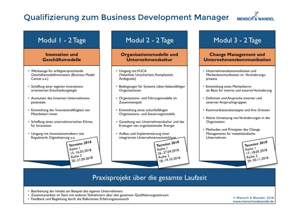 Seminarmodule Business Development Manager