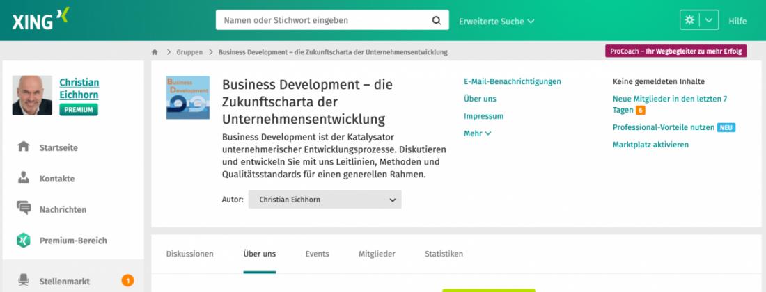 XING-Gruppe Business Development und Unternehmensentwicklung